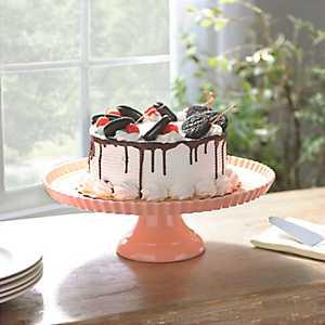 Pink Ruffle Rim Cake Stand