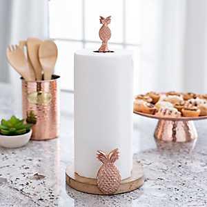 Copper Pineapple Paper Towel Holder