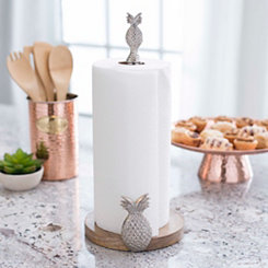 Silver Pineapple Paper Towel Holder