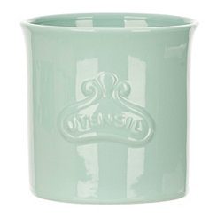 Turquoise Embossed Utensil Holder