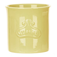 Yellow Embossed Utensil Holder