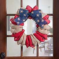 Stars And Stripes Burlap Wreath