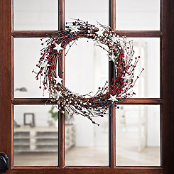 Berries and Stars Twig Wreath