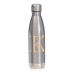 Metallic Blue Monogram K Bottle