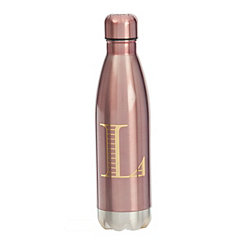 Metallic Pink Monogram L Bottle