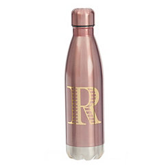 Metallic Pink Monogram R Bottle