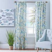 Blue and Yellow Ashlyn Curtain Panel Set, 96 in.