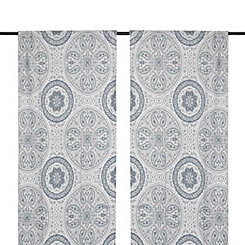 Leilani Blue Paisley Curtain Panel Set, 108 in.