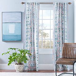 Lola Multicolor Paisley Curtain Panel Set, 96 in.