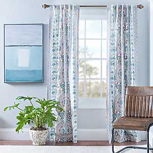 Lola Multicolor Paisley Curtain Panel Set, 108 in.