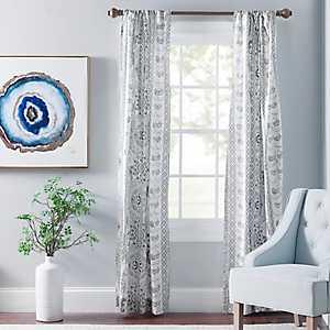 Lola Gray Paisley Curtain Panel Set, 96 in.