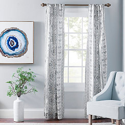 Lola Gray Paisley Curtain Panel Set, 96 in.