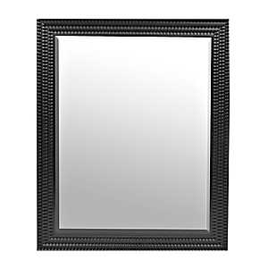 Black Scalloped Ridge Mirror