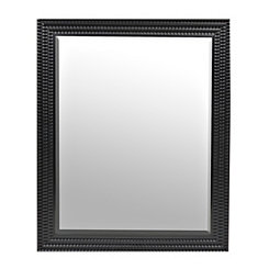 Black Scalloped Ridge Mirror