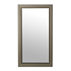 Ornate Light Woodgrain Wall Mirror