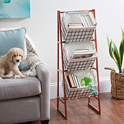 Copper and Black Basket Tower