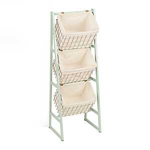 Blue Basket 3-Tier Stand