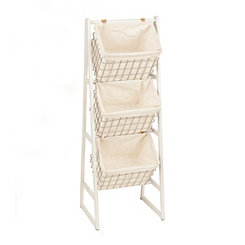 White and Silver Basket Tower