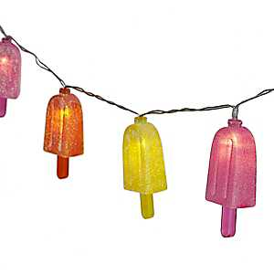 Glitter Popsicles String Lights