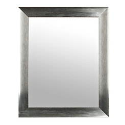Galvanized Faux Metal Wall Mirror