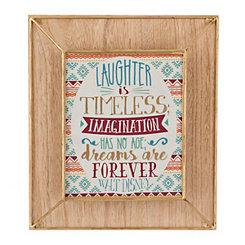 Laughter Is Timeless Wall Plaque