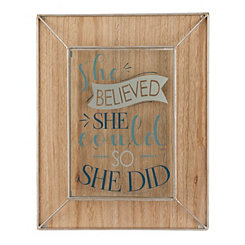 She Believed She Could Wall Plaque