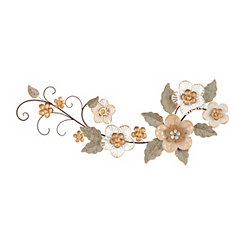 Blush Floral Garden Metal Plaque