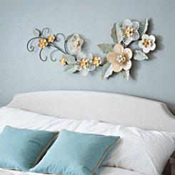 Blush Floral Garden Metal Plaque