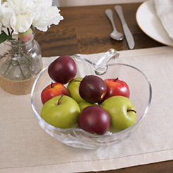 Glass Apple Bowl