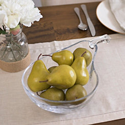 Glass Pear Bowl