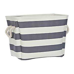 Navy Stripe Storage Bin