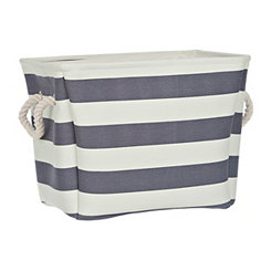 Navy Stripe Storage Bin