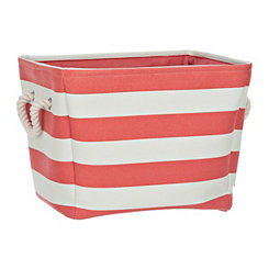 Red Stripe Storage Bin