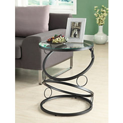 Black Stacking Circles Accent Table