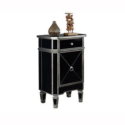 Black Mirror Modern Side Table