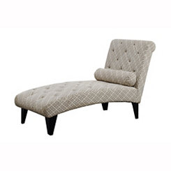 Sandstone Gray Geometric Chaise Lounge