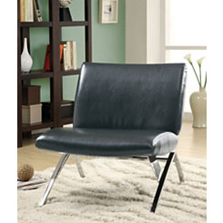 Black Chrome Modern Accent Chair