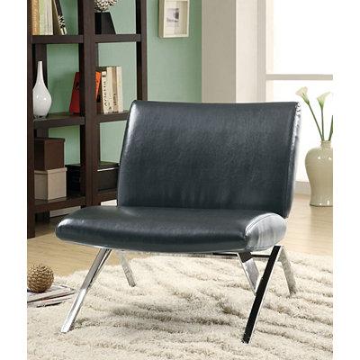 Black Chrome Modern Accent Chair