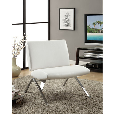 White Chrome Modern Accent Chair