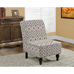 Ivory Earth Toned Accent Chair