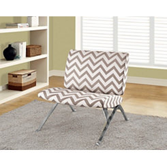 Tan Chevron Modern Accent Chair