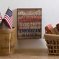 God Made American Raised Wall Plaque