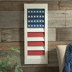 Stars and Stripes Shutter Plaque
