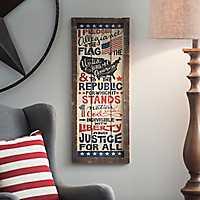 Pledge of Allegiance Wall Plaque