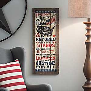 Pledge of Allegiance Wall Plaque