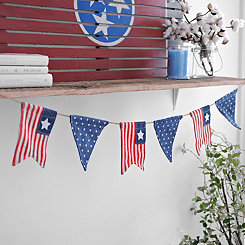 Flags and Polka Dots Denim Banner