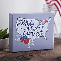 Land That I Love Floral Wall Plaque