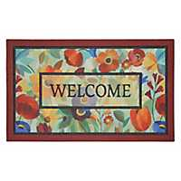 Glass Flower Welcome Doormat