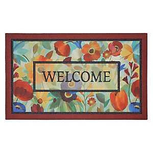 Glass Flower Welcome Doormat