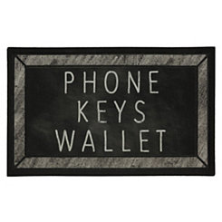 Phone Keys Wallet Doormat